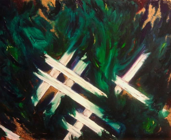 Midnight Lattice, 32'' x 24'', oil on canvas