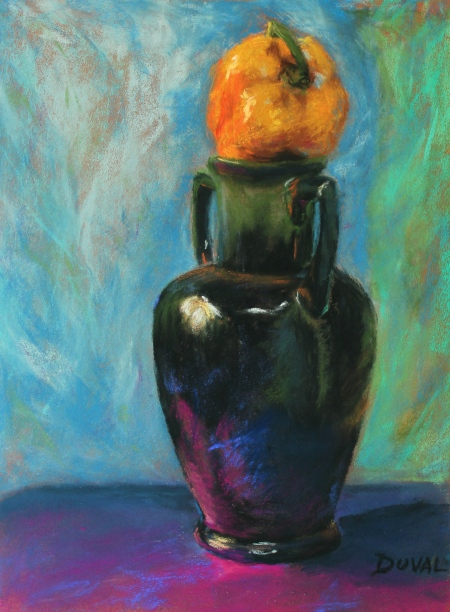 The Pepper Jar, pastel on paper, 15 3/4'' x 12''