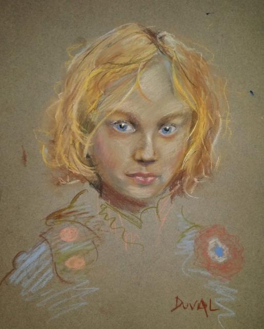 Gavroche, pastel pencil on paper, 9'' x 12''
