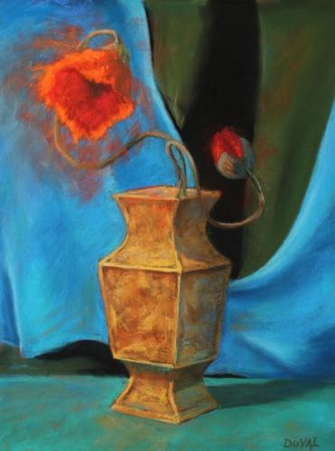 Still Life, pastel on paper, 15 3/4 x 12''